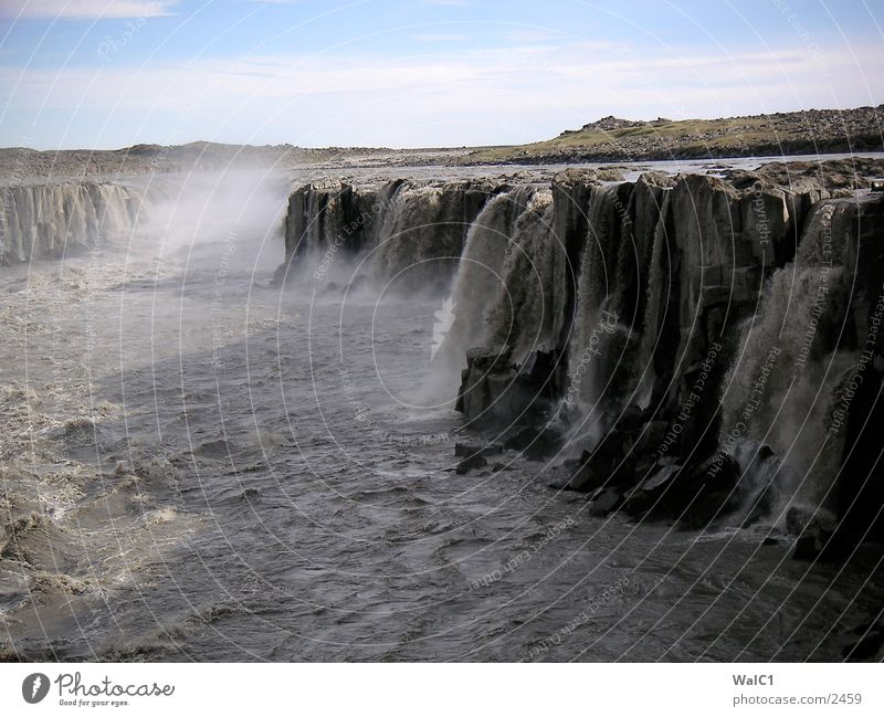 Nature Water Power Europe Energy industry Iceland Waterfall Environmental protection National Park Untouched