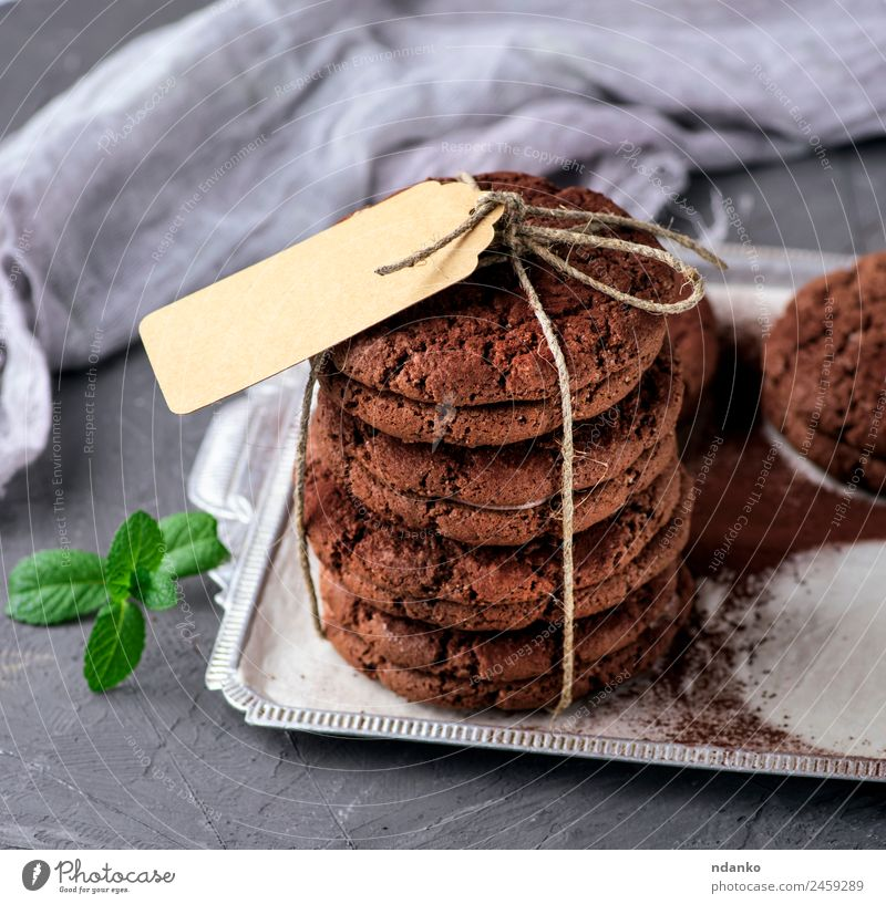 round chocolate chip cookies Dessert Candy Chocolate Breakfast Diet Paper Eating Delicious Brown Token background food sweet Tasty Snack Accumulation cake