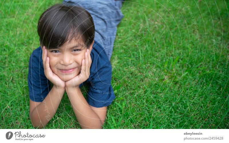 Little boy Smile and happy at the backyard Child Human being Man Beautiful Joy Face Adults Laughter Happy Boy (child) Small Playing Garden Park Infancy Smiling
