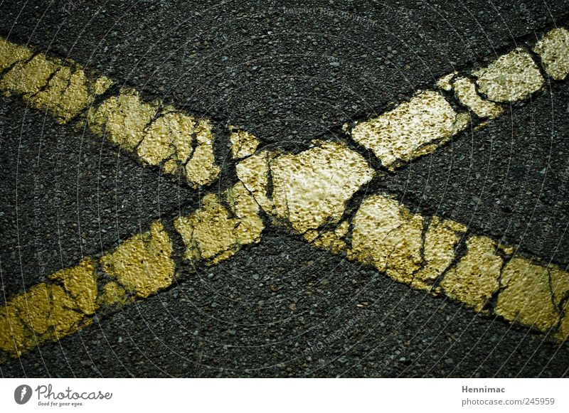 Old Black Yellow Street Gray Stone Dye Line Gold Signs and labeling Concrete Stripe Letters (alphabet) Asphalt Middle Sign