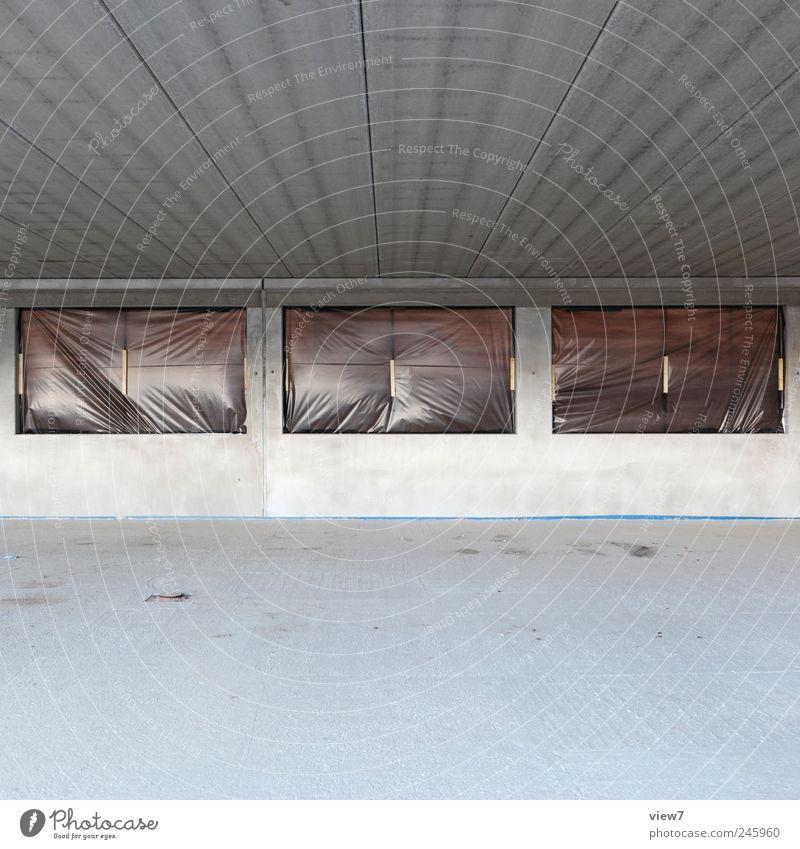 Far-off places Wall (building) Window Wall (barrier) Line Facade Concrete Arrangement Free Modern Esthetic Stripe Interior design Living or residing Authentic
