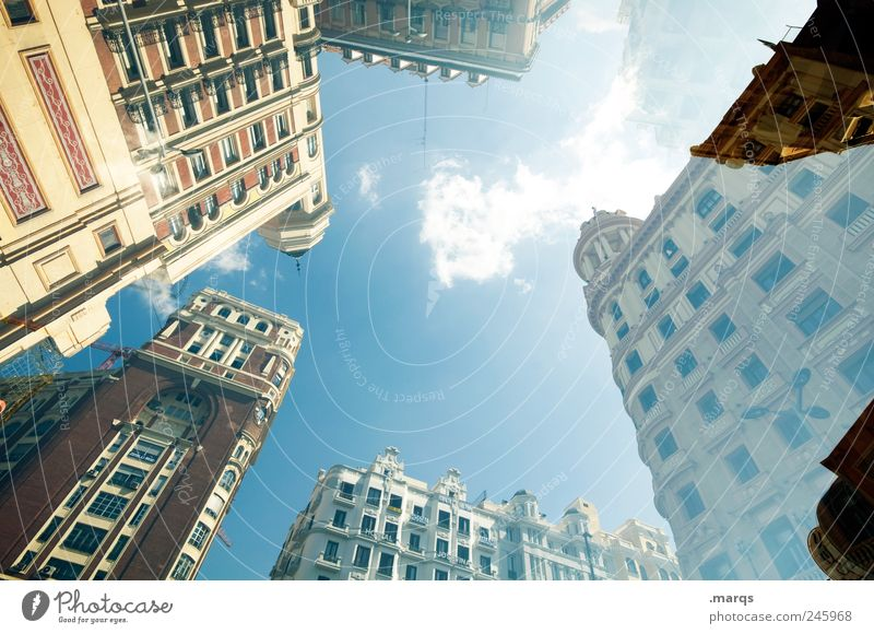 Madrid Style Design House (Residential Structure) Sky Spain Downtown Overpopulated Manmade structures Building Architecture Facade Living or residing