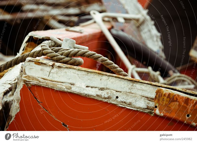 Old White Red Wood Watercraft Brown Rope Lie Broken Change Transience Harbour Decline Past Trashy Navigation