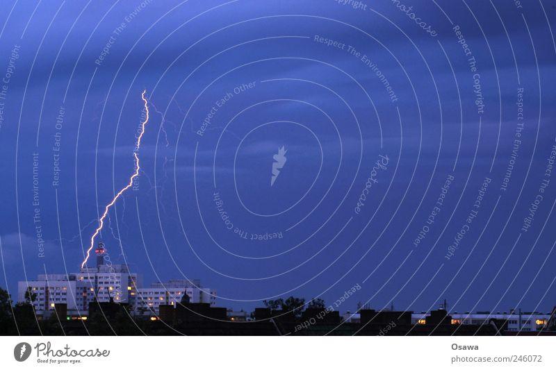 Sky Nature Blue City Clouds Building Air Power Horizon High-rise Fire Electricity Elements Skyline Lightning Storm