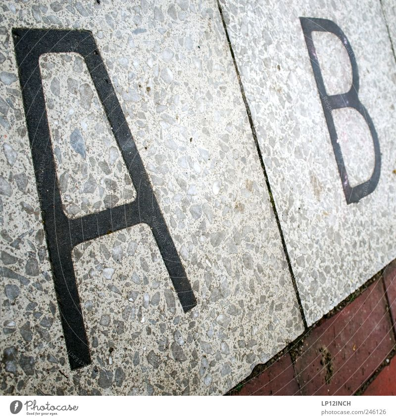 A B Hamburg Stone Brick Characters Beginning Alphabetical Letters (alphabet) as of answering machines Floor covering Word Colour photo Exterior shot Day