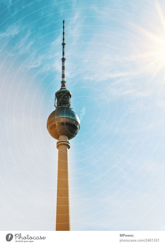Sun Berlin Tourism Tall Tourist Attraction Symbols and metaphors Manmade structures Landmark Capital city Sphere Berlin TV Tower Classic Television tower