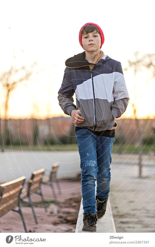 Young teenager portrait at sunrise Lifestyle Style Happy Face Academic studies Human being Feminine Boy (child) Man Adults Youth (Young adults) 1 8 - 13 years