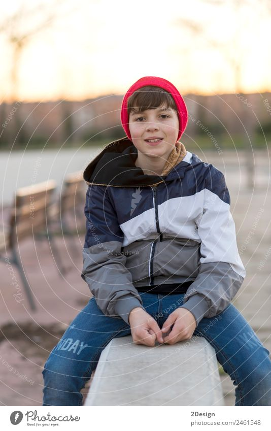 Young teenager portrait wearing a red hat Lifestyle Style Happy Face Academic studies Human being Masculine Boy (child) Man Adults Youth (Young adults) 1