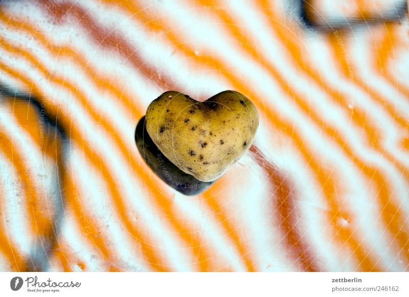 Potato from heart Food Fruit Nutrition Organic produce Vegetarian diet Garden Plant Agricultural crop Sign Heart Love Emotions Sympathy Friendship Together