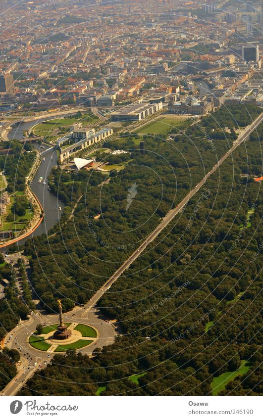 Tiergarten with government quarter Tree Garden Park Forest Town Capital city Downtown Populated House (Residential Structure) Tower Manmade structures Building