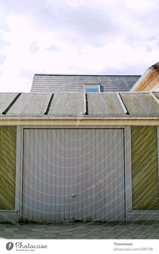Green Clouds House (Residential Structure) Wood Gray Broken Safety Living or residing Roof Destruction Effort Garage Disaster Lose Denmark Arrangement