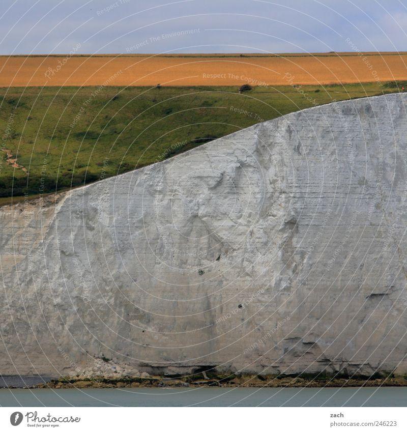 Dover Nature Landscape Water Plant Grass Hill Rock Coast North Sea Ocean English Channel White Cliffs Limestone rock Tourist Attraction Stone Sand Colour photo