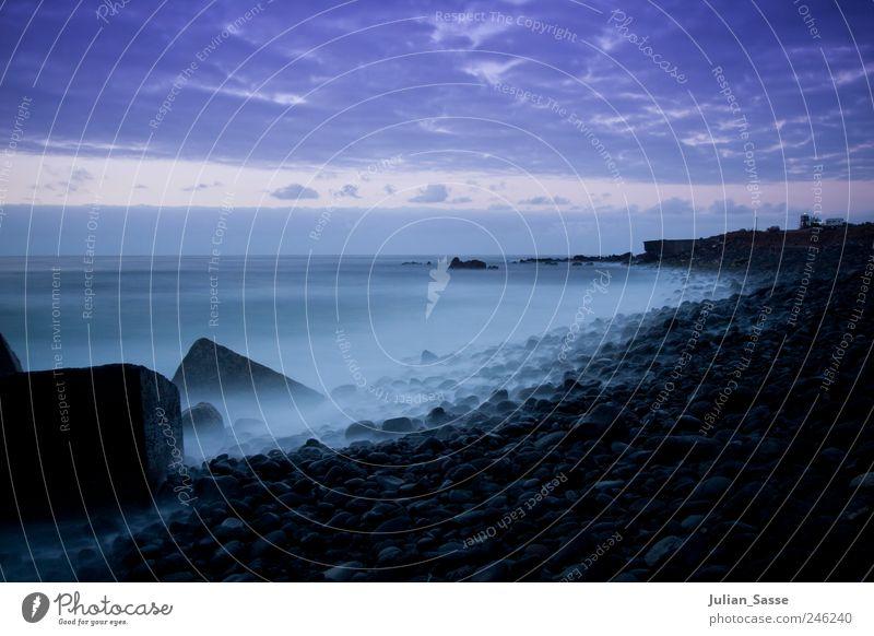 Sky Water Summer Beach Ocean Clouds Dark Landscape Stone Coast Waves Fog Island Esthetic Mysterious Bay