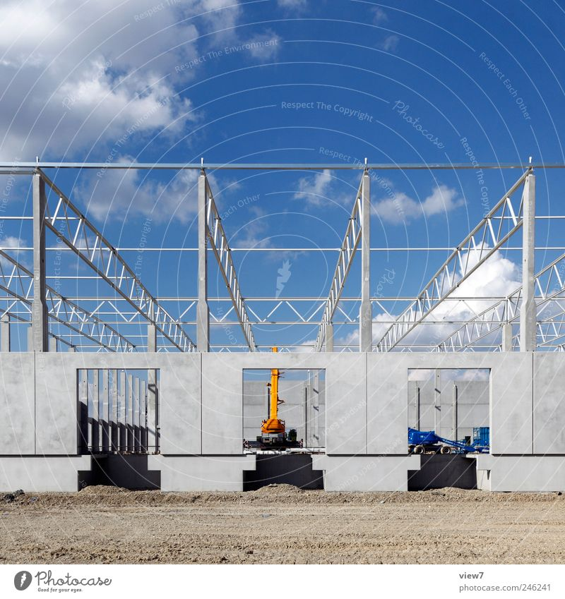 Sky House (Residential Structure) Wall (building) Landscape Wall (barrier) Building Facade Concrete Modern Climate Construction site Logistics Authentic Roof Factory