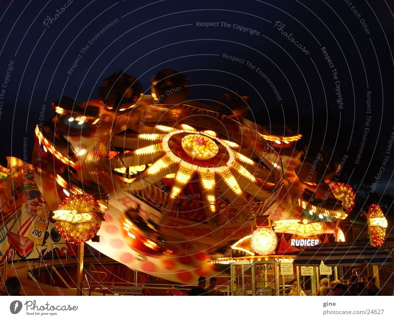lightcycles Night Light Fairs & Carnivals Photographic technology carousel Feasts & Celebrations fun