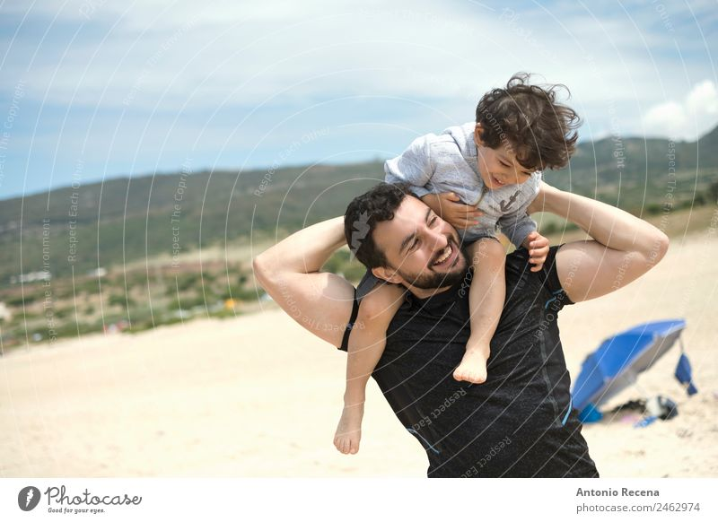 Playing in the beach Child Human being Man Summer Beach Adults Love Funny Boy (child) Baby Cute Spain Relationship Toddler Parents