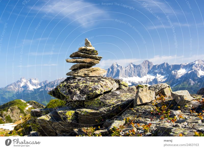 Nature Vacation & Travel Blue Loneliness Mountain Tourism Freedom Stone Gray Rock Above Trip Hiking Creativity Uniqueness Footpath