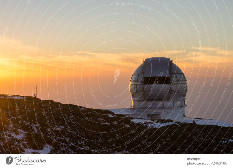 Astrophysical Observatory of the Roque de los Muchachos Sky Vacation & Travel Calm Winter Snow Island Adventure Discover Infinity Spain Serene Telescope