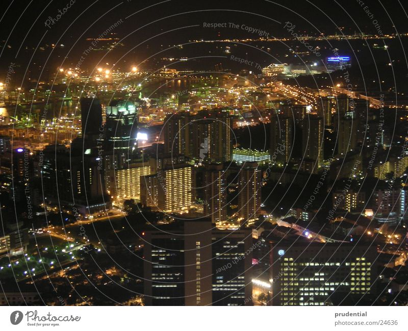 singapore at night Singapore Asia Night Town Light Success