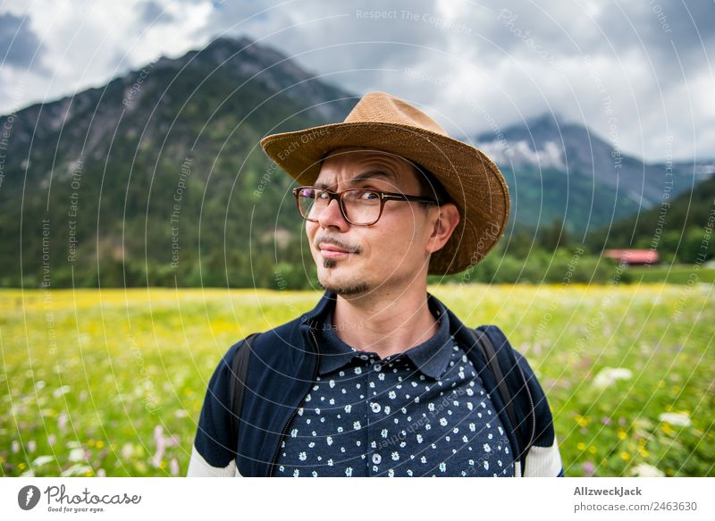 Nature Vacation & Travel Green Young man Tree Relaxation Clouds Loneliness Calm Forest Mountain Travel photography Freedom Germany Hiking Idyll