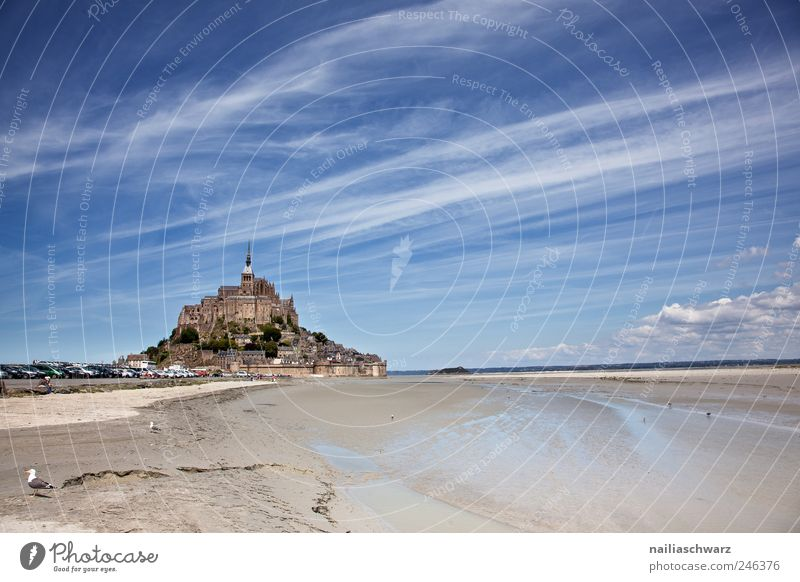 Mont Saint Michel Vacation & Travel Tourism Sightseeing Ocean Island Mont St Michel Brittany Normandie France Europe Landscape Sky Summer Beautiful weather