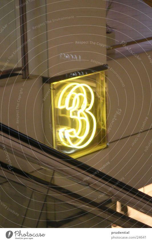 Yellow Bright Technology Neon light Escalator Electrical equipment