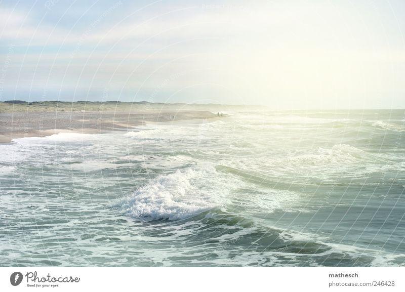 Sky Nature Water Blue White Summer Beach Ocean Clouds Warmth Coast Air Bright Waves Elements North Sea