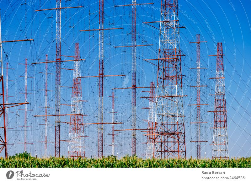 High Voltage Power Tower Electricity Post voltage Height transmission Energy Line Industry Pylon Technology Sky Structures and shapes Wire Supply Steel Metal
