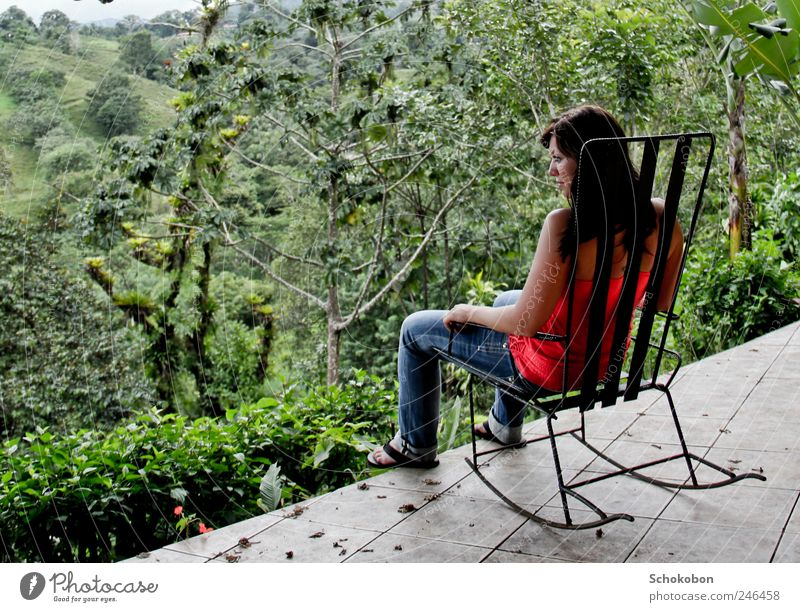 Human being Nature Youth (Young adults) Green Tree Adults Forest Relaxation Landscape Garden Think Sit Natural 18 - 30 years Observe Jeans