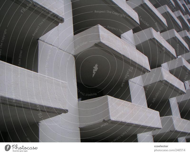 Beton Facade Concrete Modern architecture City life White Sadness Brutalismus Deserted