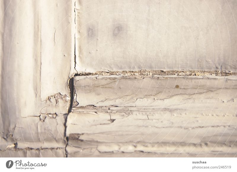 Old Wood Building Time Broken Change Transience Decline Manmade structures Crack & Rip & Tear Hideous Varnish Weathered Flake off Paintwork Window frame