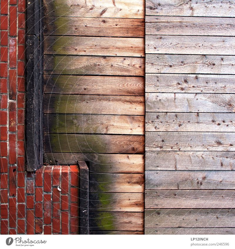 L as in... Luneburg Germany Europe Small Town Wall (barrier) Wall (building) Wood Brick Sign Red Joist Line Exceptional Colour photo Multicoloured Exterior shot