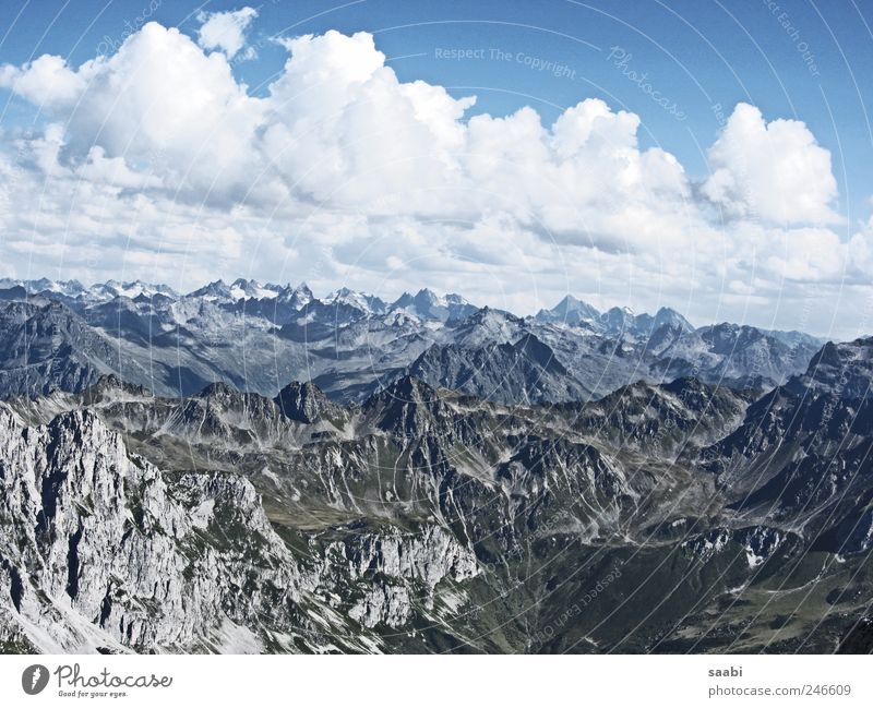 mountain views Nature Landscape Sky Clouds Alps Mountain Infinity Relaxation Freedom Exterior shot Day Panorama (View)
