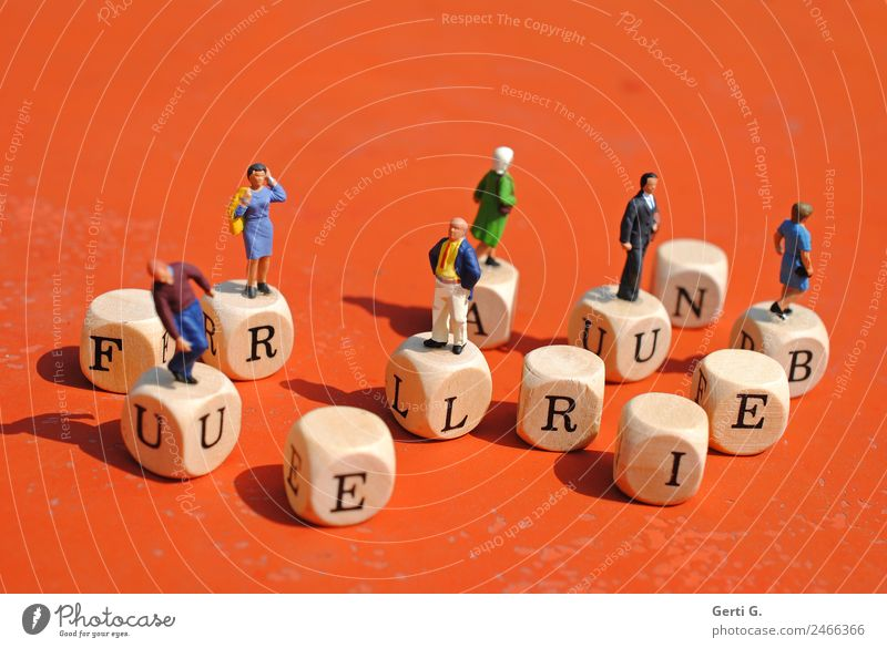 Miniature Figures - LetterCube Lifestyle Leisure and hobbies Vacation & Travel Vacation mood Tourism Trip Freedom Summer vacation Work and employment Workplace