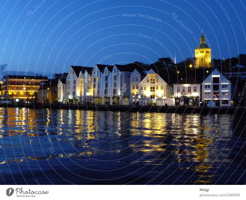 Summer evening in the harbour... Vacation & Travel Tourism City trip Town Port City Old town House (Residential Structure) Manmade structures Building