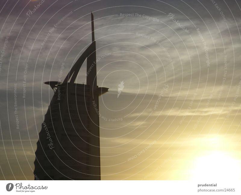 burj al arab Sunset Winter Bad weather Success bur al arab tower of arabia Clouds diffuse light