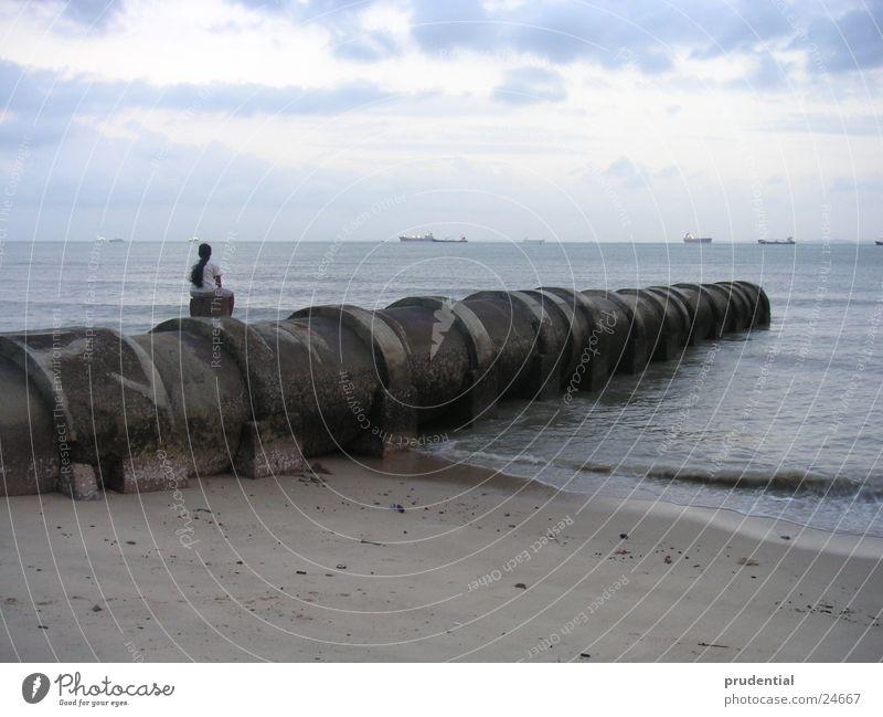 Blue Ocean Beach Lake Horizon Water Effluent