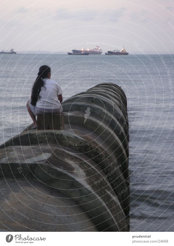 Woman Ocean Loneliness Sadness Watercraft Grief Wanderlust Homesickness