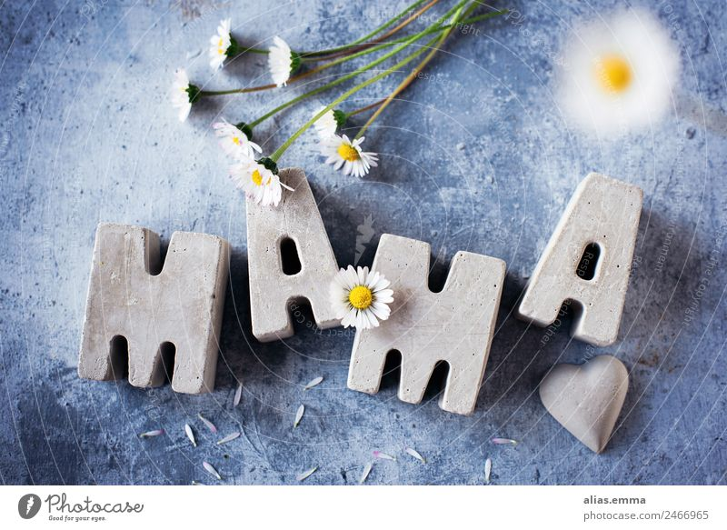 Mother's day greetings from concrete letters Mother's Day Concrete May Flower Card Thank you very much Word Letters (alphabet) Self-made Home improvement