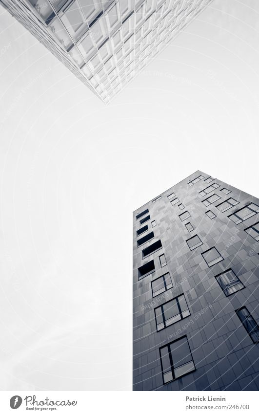 high-rise romance Town Downtown House (Residential Structure) High-rise Manmade structures Building Architecture Line Tall Gray Esthetic Design Loneliness