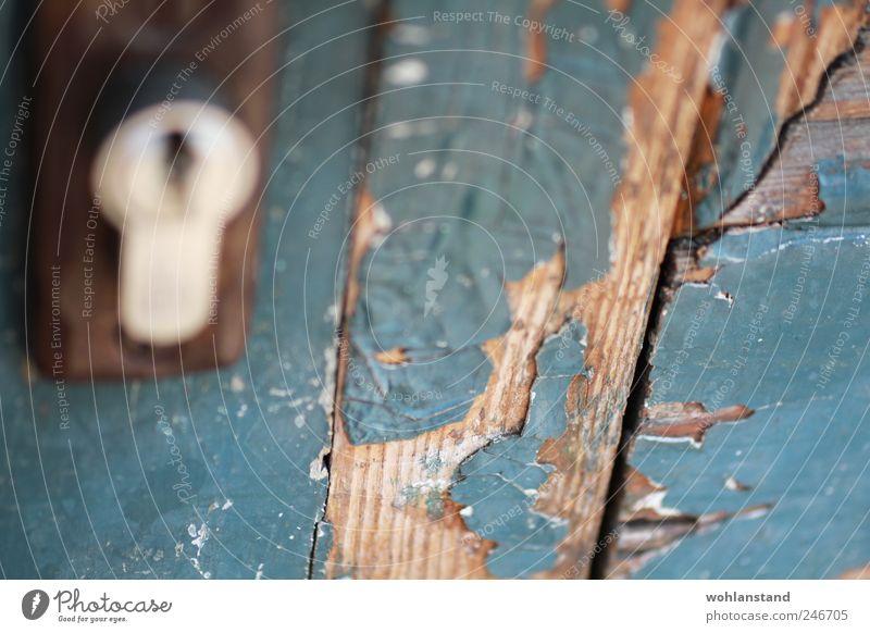 Old Blue Brown Esthetic Natural Lock Key