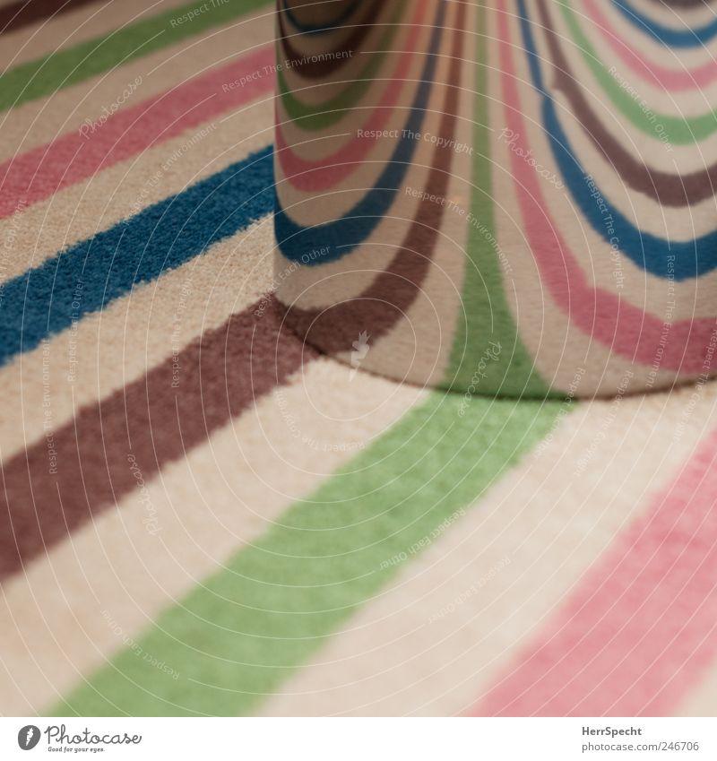 light breaker Carpet carpet pattern Striped Trash container Wastepaper basket Metal Multicoloured Refraction Convex barrel-shaped Colour photo Interior shot