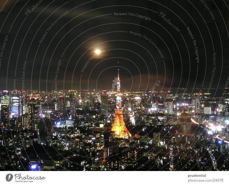full moon in tokyo Full  moon Tokyo Night Long exposure Success Town