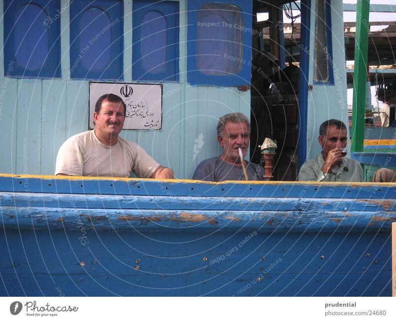 Man Blue Group Watercraft 3 Break Smoking Harbour Symbols and metaphors Waterpipe