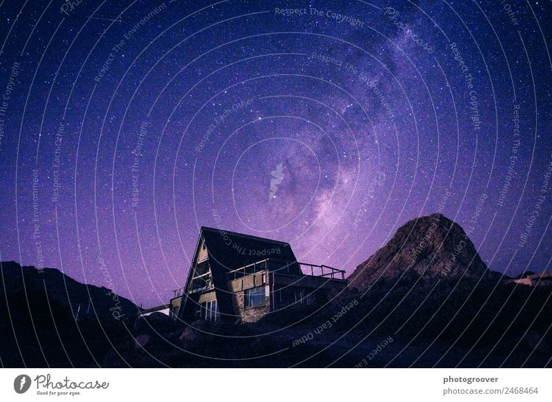Ghost House Milky Way Sky Nature Vacation & Travel Landscape House (Residential Structure) Mountain Environment Tourism Moody Living or residing Hiking Earth