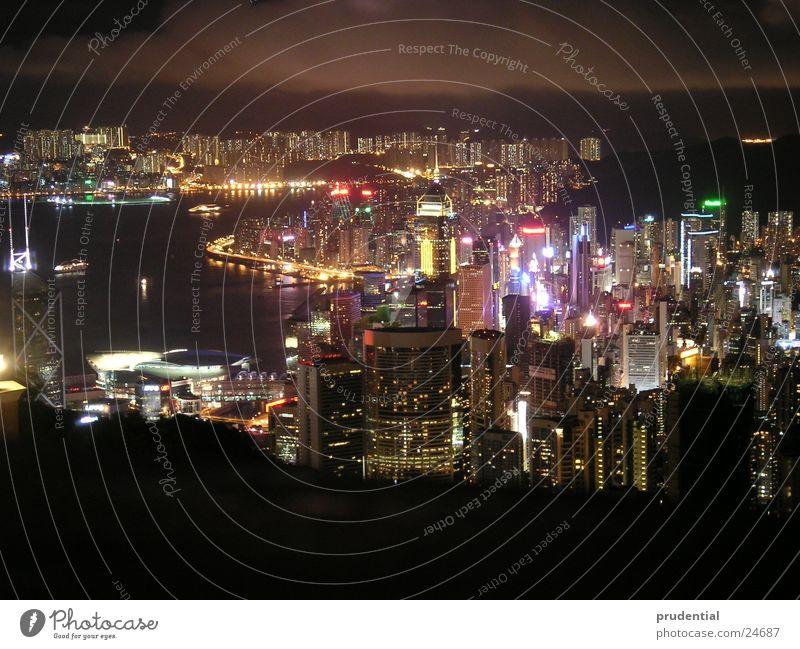 hong kong at night Night Ocean Town Success Light lag time exposure