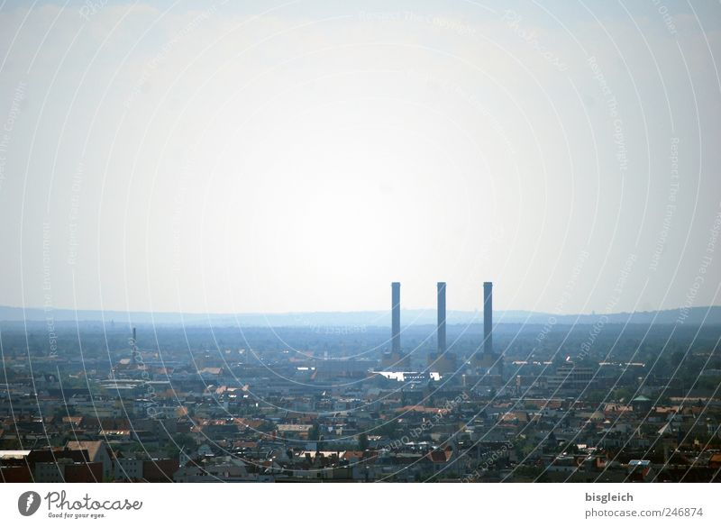 Sky City Berlin Gray Europe Factory Federal eagle Chimney Capital city Electricity generating station