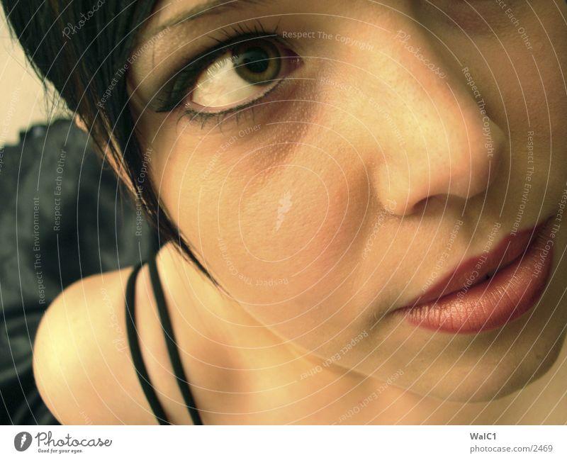 Woman Face Eyes Skin Underwear Bra