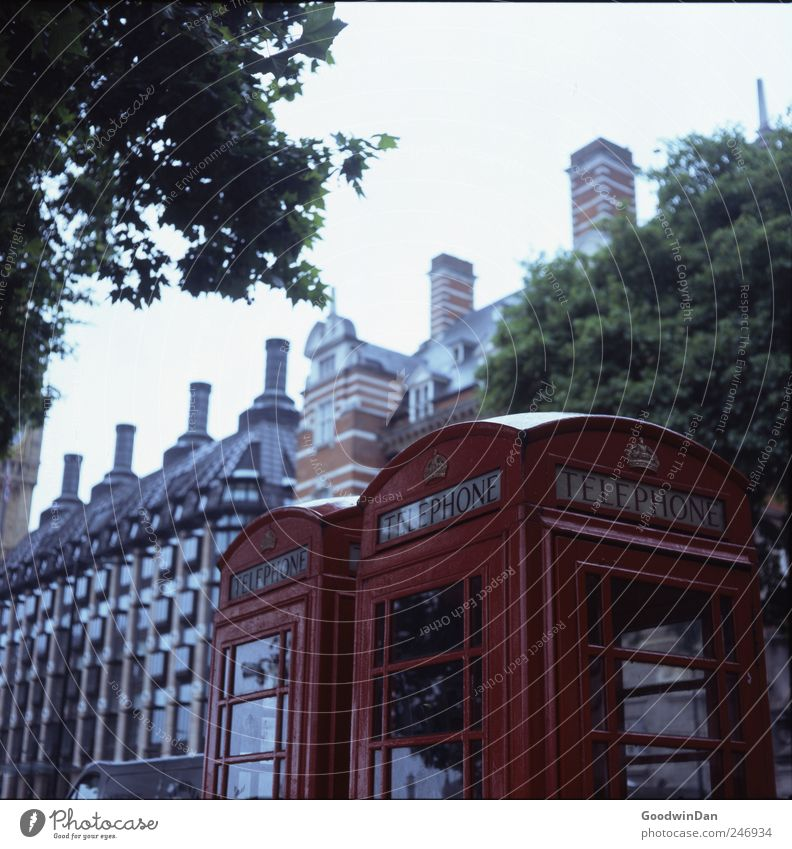 London compact. Capital city Downtown Deserted House (Residential Structure) Architecture Phone box Authentic Simple Town Many Moody Colour photo Exterior shot
