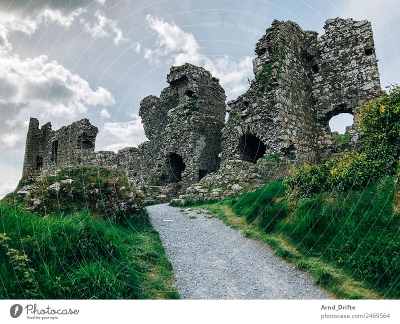 Ireland - Rock of Dunamase Vacation & Travel Tourism Trip Far-off places Sightseeing Summer Summer vacation Landscape Sky Clouds Spring Beautiful weather Hill